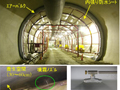 温度制御噴霧式<p>覆工コンクリート湿潤養生システム(K-tics)</p>