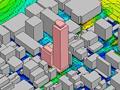 コンピュータシミュレーションによる 建物周辺の風環境予測