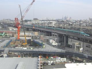 武蔵浦和駅第1街区第一種市街地再開発事業駅前広場デッキその他築造その1工事
