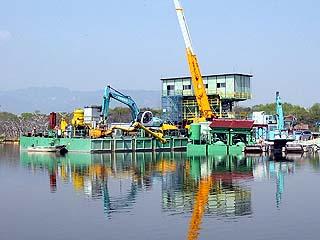 昆陽池水質浄化対策工事