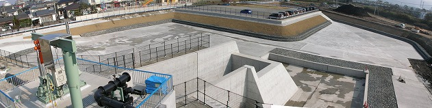 加勢川雨水調整池築造工事